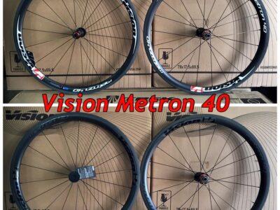 ล้อคาร์บอน Vision รุ่น Metron 40 ยางงัด