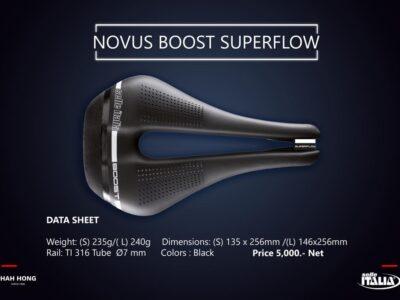 เบาะ Selle Italia รุ่น Novus Boost Superflow รางTi316