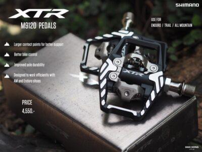 บันไดคลีตเสือภูเขา Shimano XTR รหัส M9120 ตัวท็อปสาย Trail Enduro